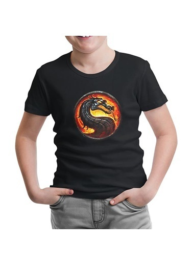 Lord Tshirt Mortal Combat Logo Siyah Çocuk Tshirt Siyah
